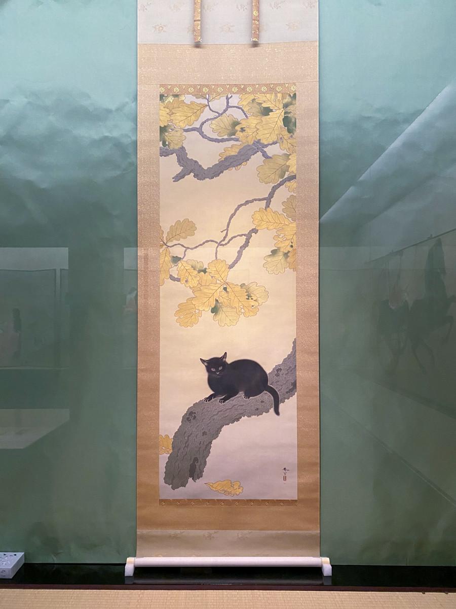 重要文化財 菱田春草《黒き猫》 明治43年 熊本県立美術館寄託