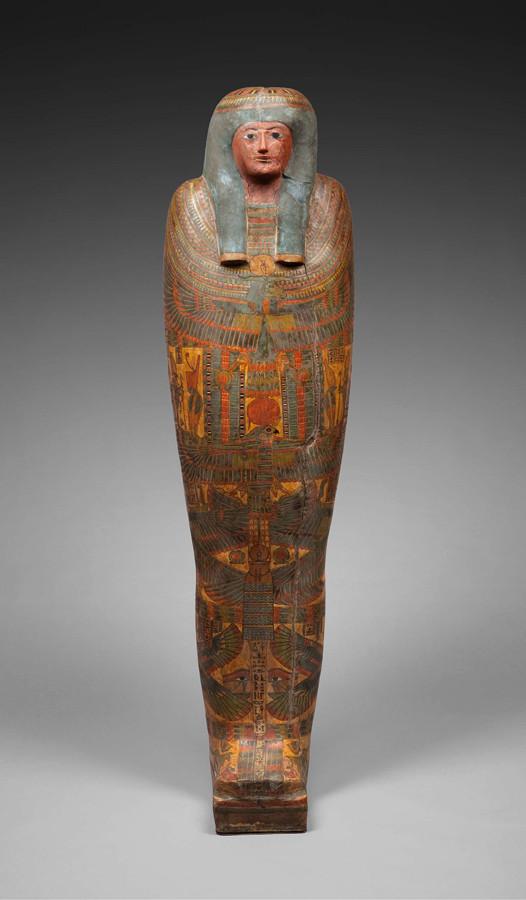 ネスコンスパケレドのカルトナージュ棺 前756~前722年頃 © Staatliche Museen zu Berlin, Ägyptisches Museum und Papyrussammlung Berlin / S. Steiß