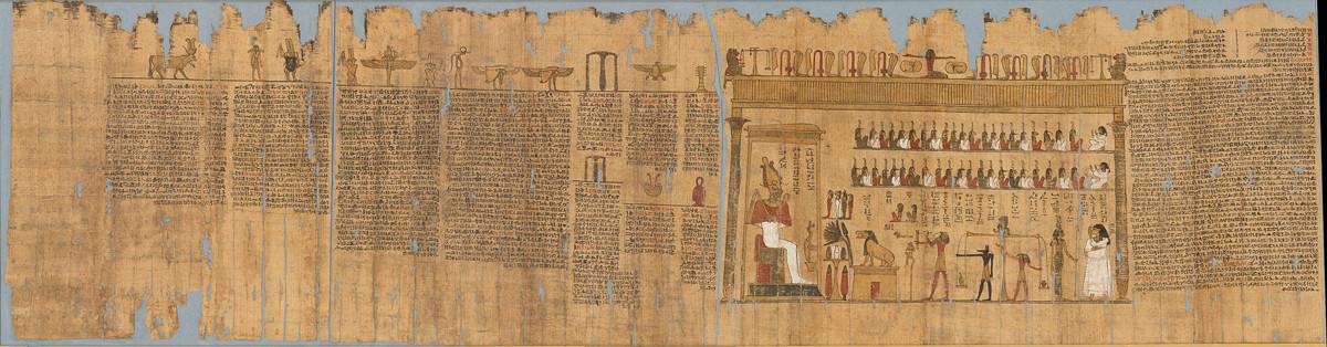 タレメチュエンバステトの「死者の書」 前332~前246年頃 © Staatliche Museen zu Berlin, Ägyptisches Museum und Papyrussammlung Berlin / A. Paasch
