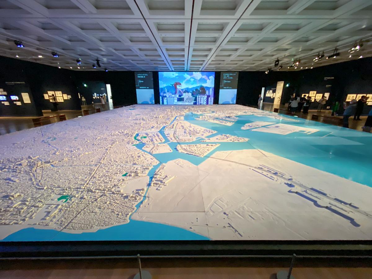 「1/1000巨大東京都市模型」