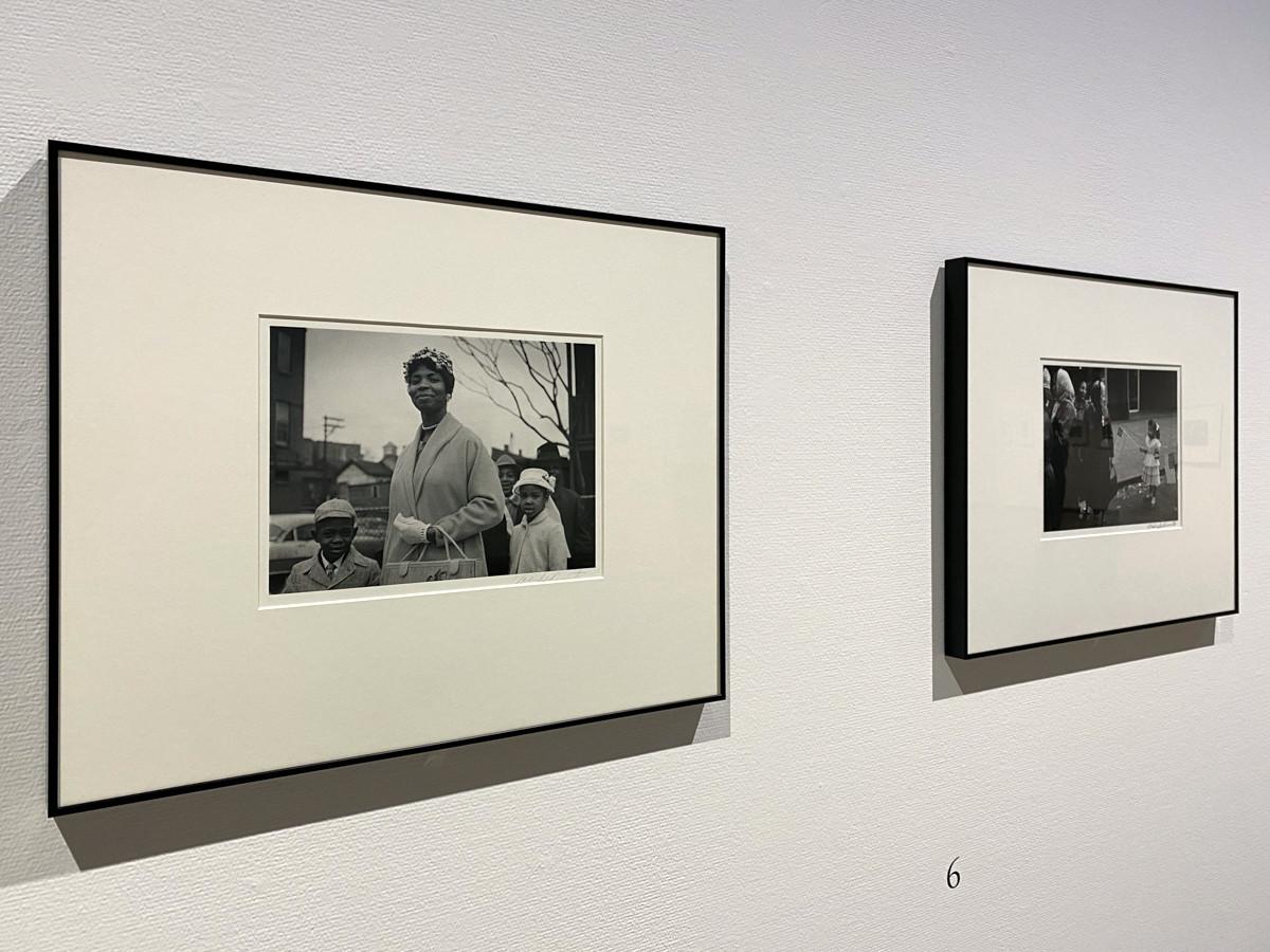 「シカゴ、シカゴ」より (左から)《シカゴ 街》1959-61年 / 《シカゴ こども》1959-61年 ともに 東京都写真美術館蔵 ©高知県, 石元泰博フォトセンター