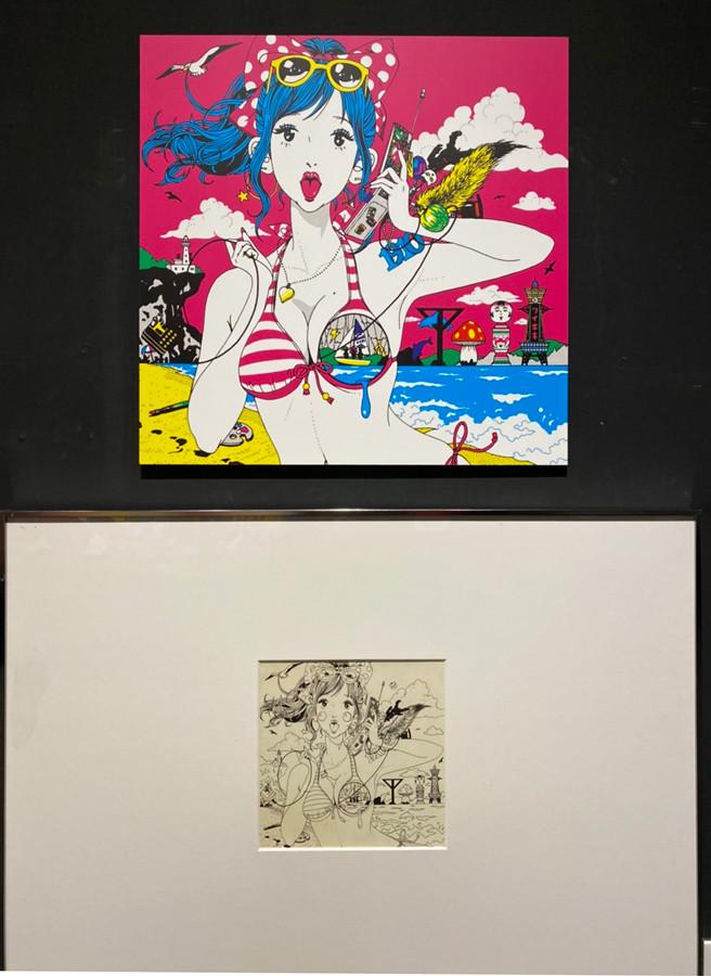 Gallery AaMo(ギャラリー アーモ)「中村佑介展 BEST of YUSUKE NAKAMURA」会場