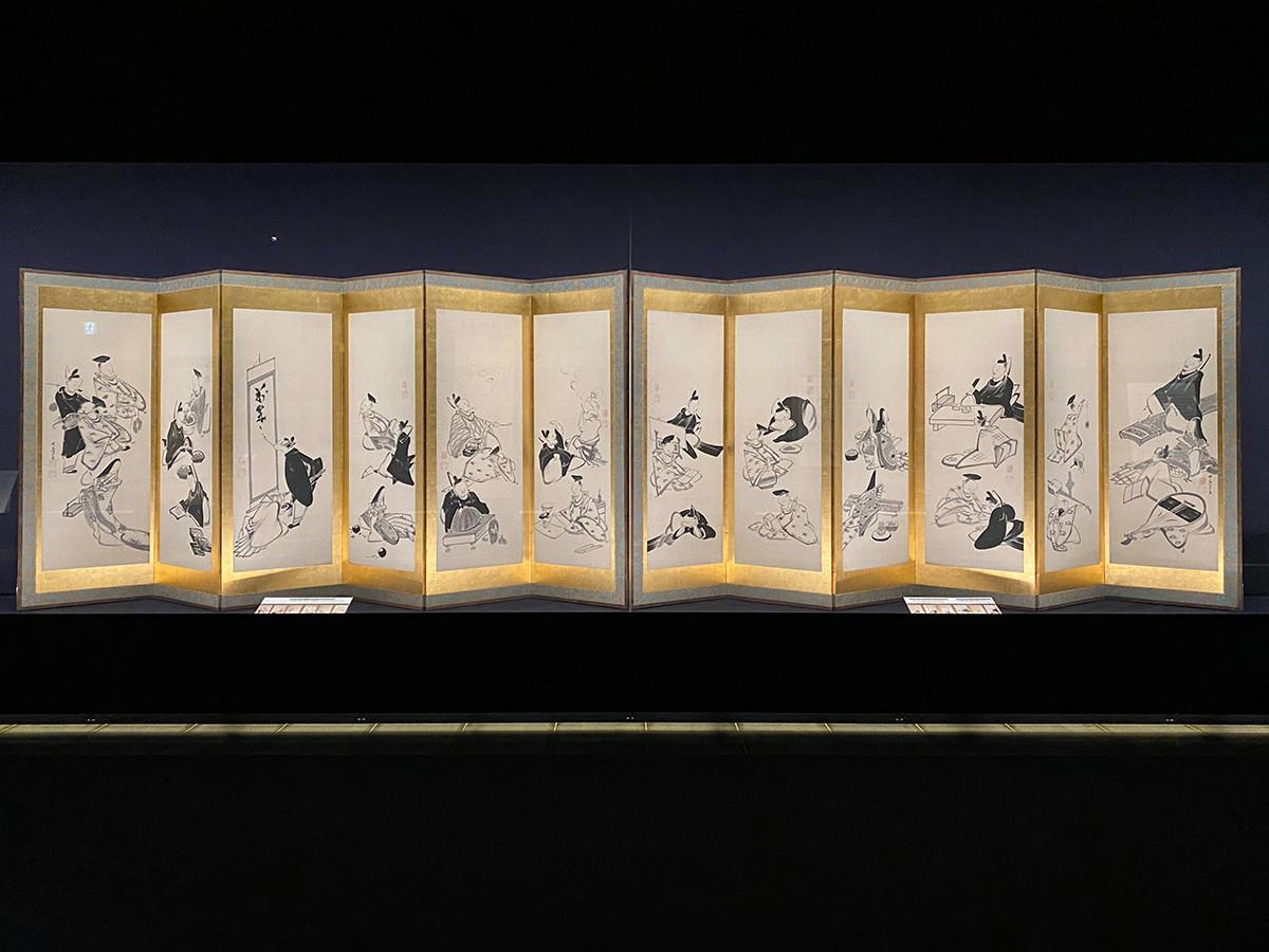伊藤若冲《三十六歌仙図屏風》寛政8年(1796)