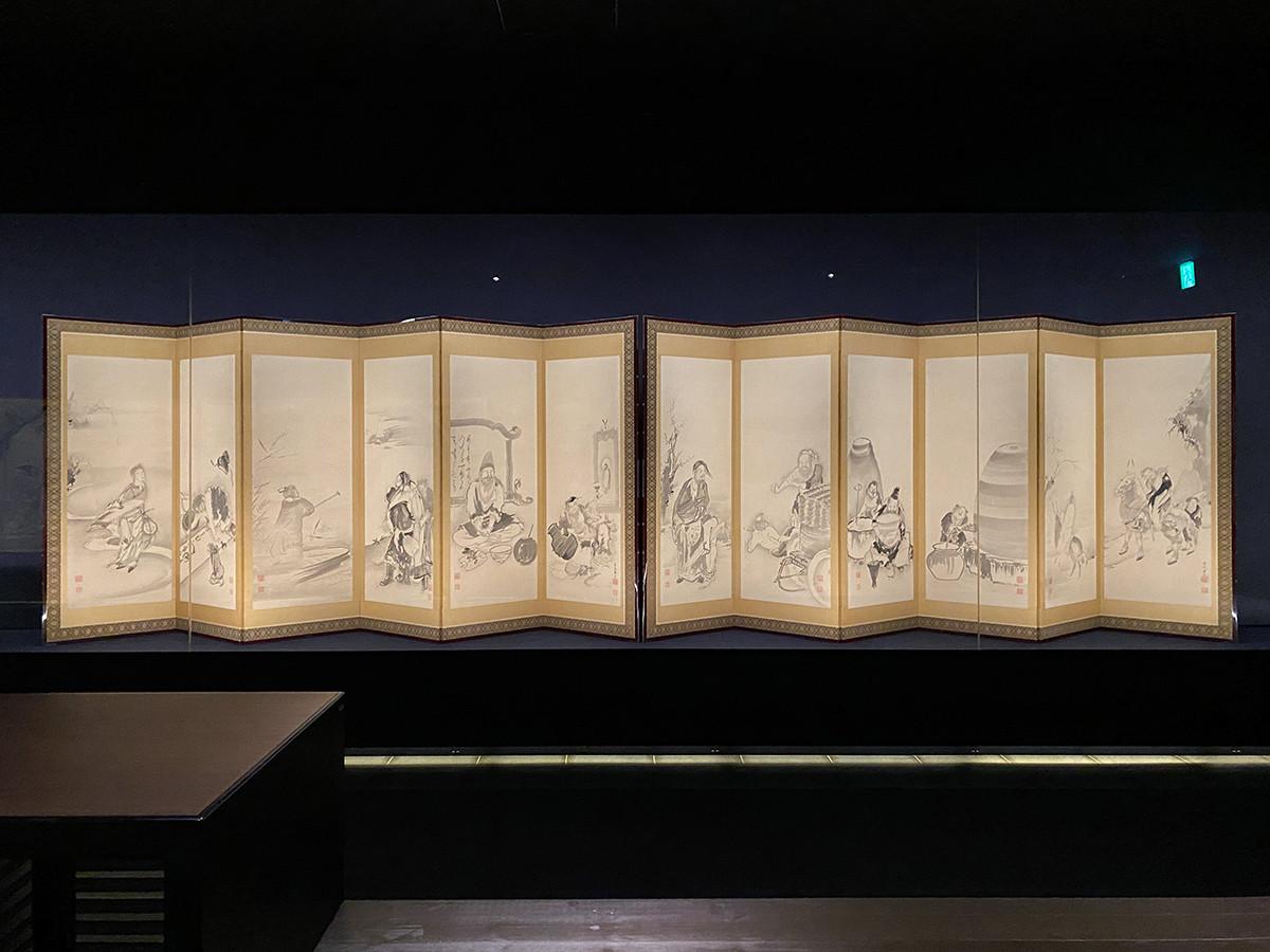 曾我蕭白《飲中八仙図屏風》18世紀後半