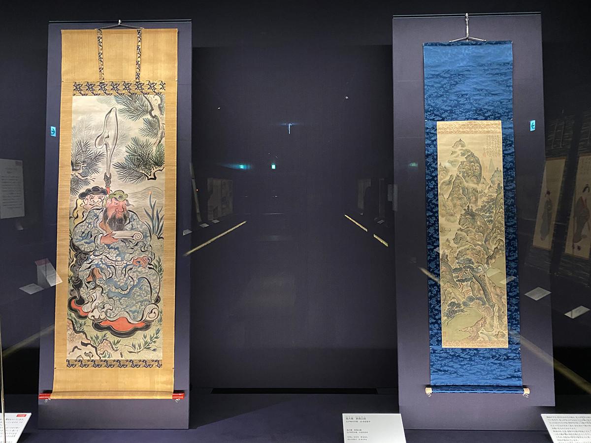 (左から)池大雅《関帝像》明和8年(1771) / 池大雅《終南山図》18世紀後半