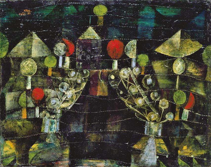 パウル・クレー《女の館》 1921年 油彩、厚紙 41.7×52.3cm 愛知県美術館蔵