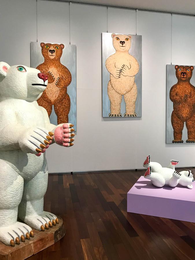 あべのハルカス美術館「三沢厚彦 ANIMALS IN ABENO HARUKAS」会場