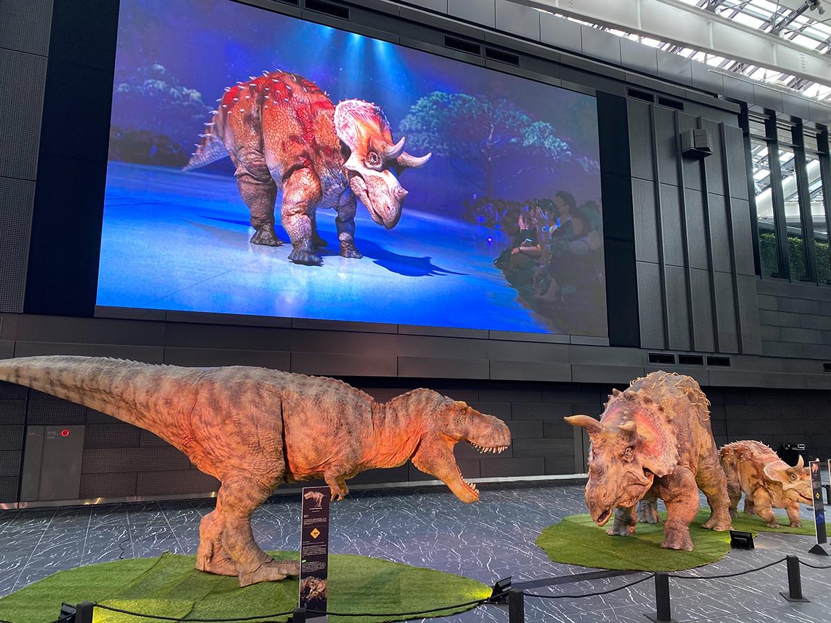「ディノアライブの恐竜たち展」会場