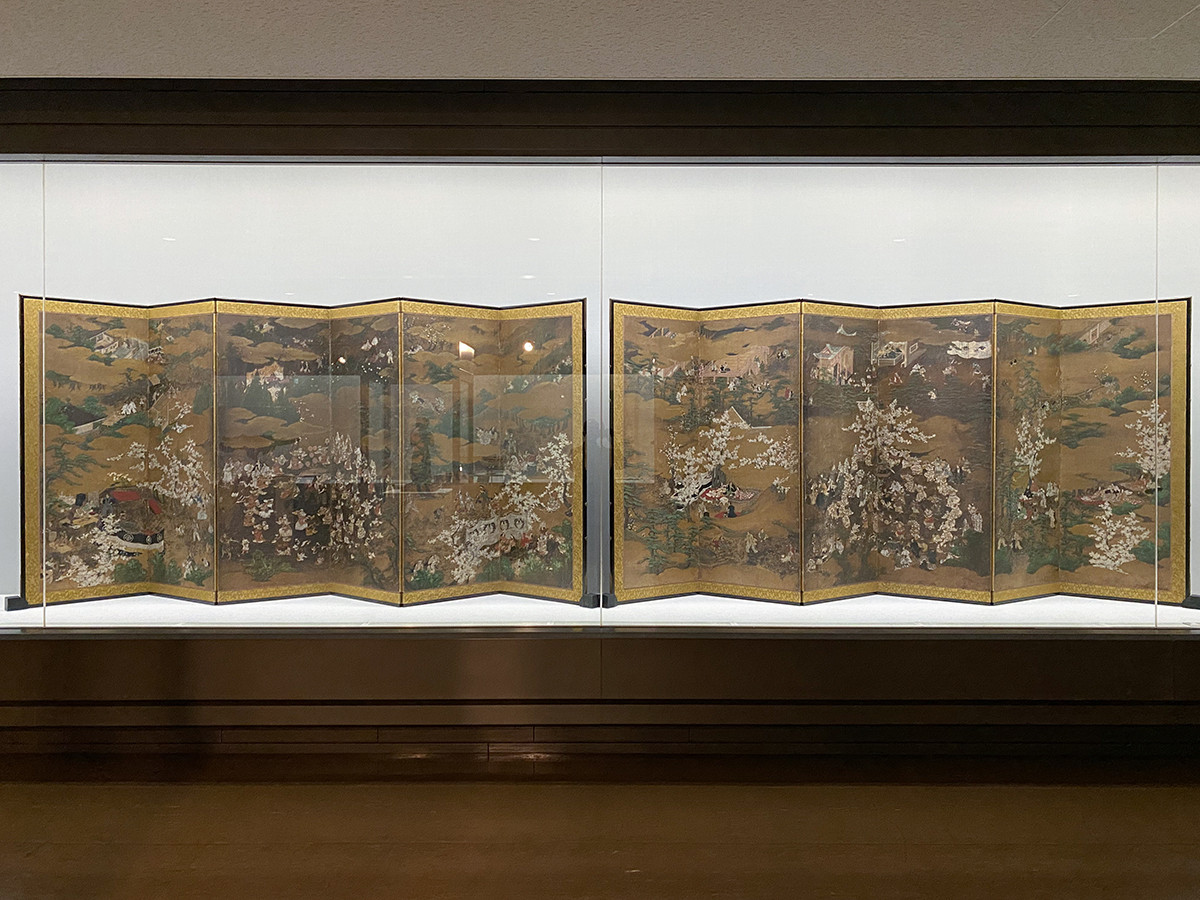《花下群舞図》桃山時代、17世紀初期