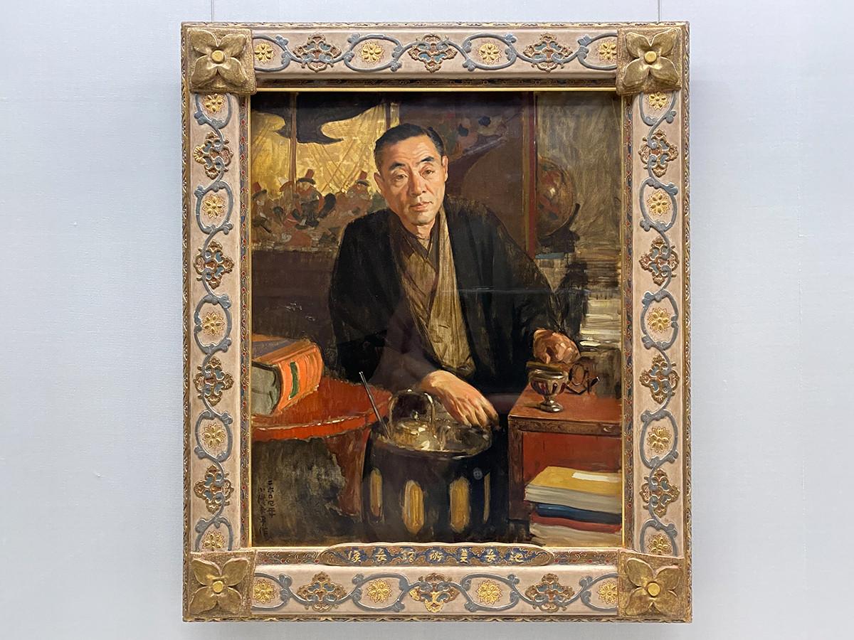 小磯良平《池長美術館長像》昭和19年(1944)