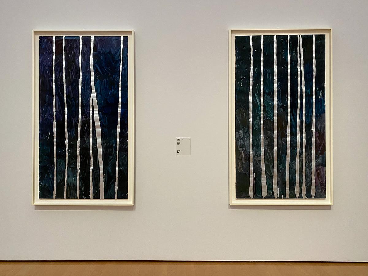 (左から)白髪富士子《無題》1957年頃 / 白髪富士子《無題》1957年頃 ともに個人蔵