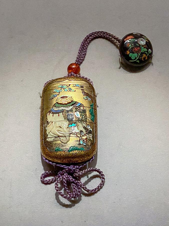 《象唐子蒔絵螺鈿印籠》江戸時代 19世紀 根津美術館