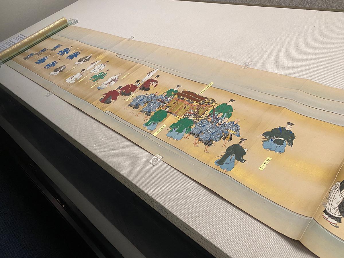 江戸東京博物館 絵巻「紅葉山八講法会図巻」