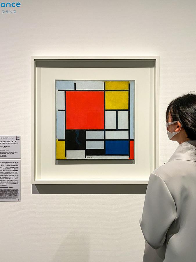 ピート・モンドリアン《大きな赤の色面、黄、黒、灰、青色のコンポジション》1921年 デン・ハーグ美術館