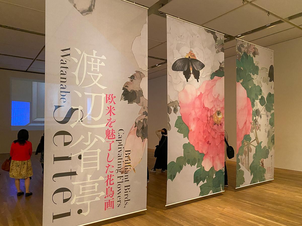 東京藝術大学大学美術館「渡辺省亭 欧米を魅了した花鳥画」会場風景