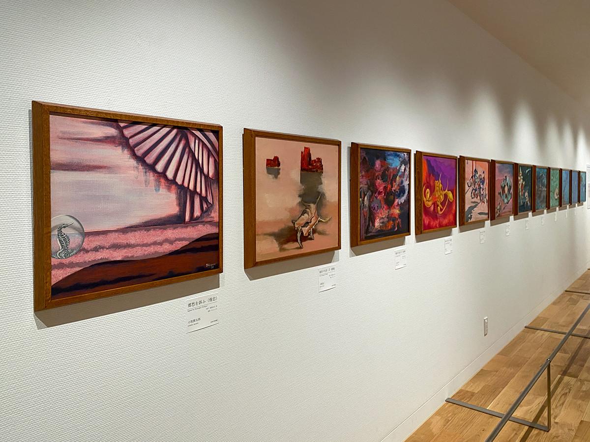 共同制作《浦島物語》1937(昭和12)年 京都市美術館 (左手前)小牧源太郎《郷愁を訴ふ(倦怠)》1937(昭和12)年 京都市美術館