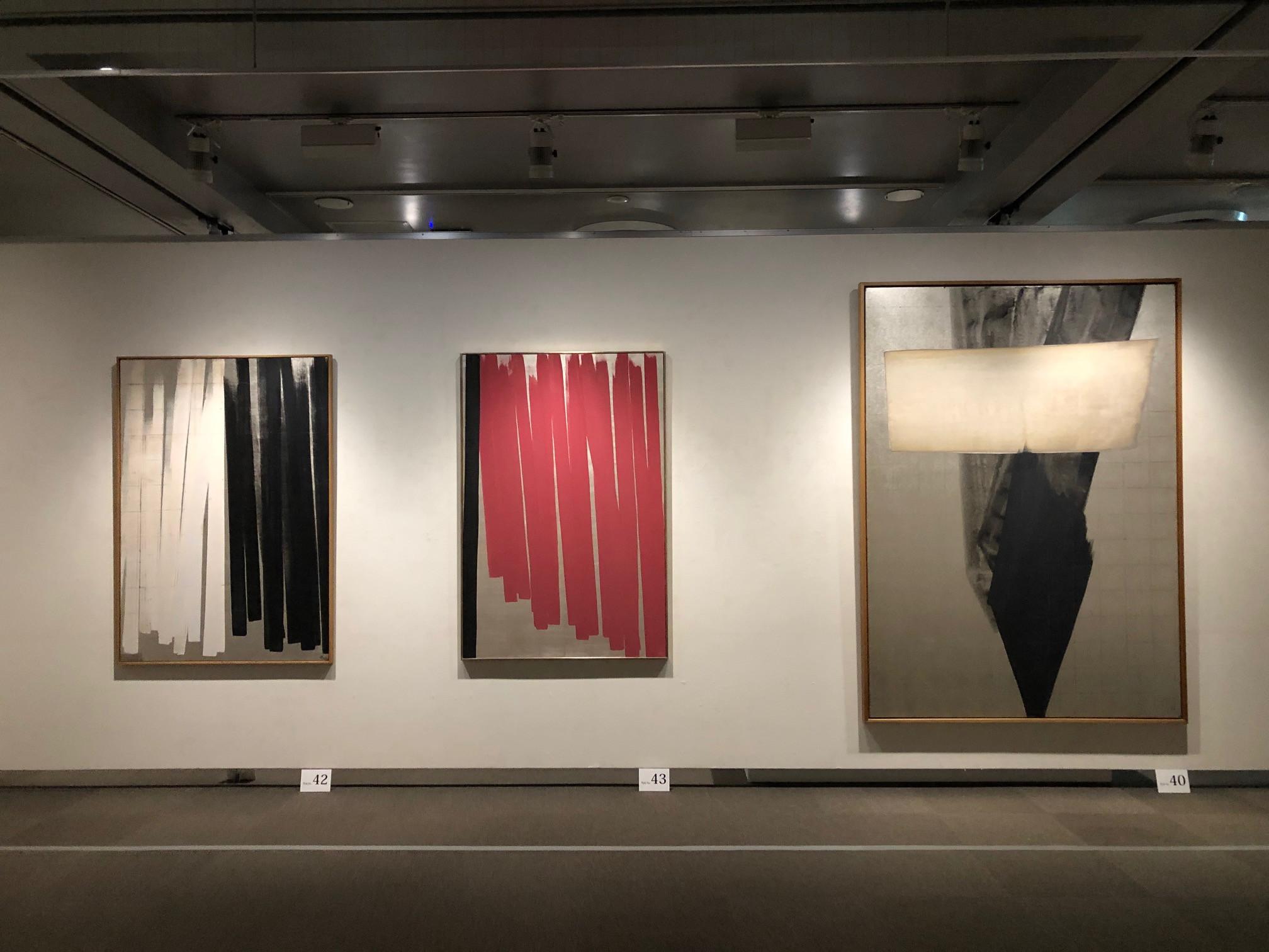 そごう美術館「篠田桃紅展」会場 第3章「昇華する抽象 1970-80年代」」