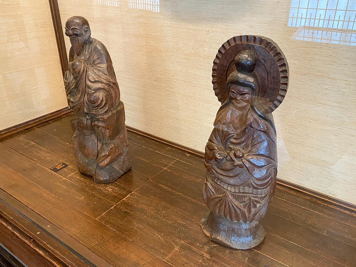 「木喰上人の彫刻」