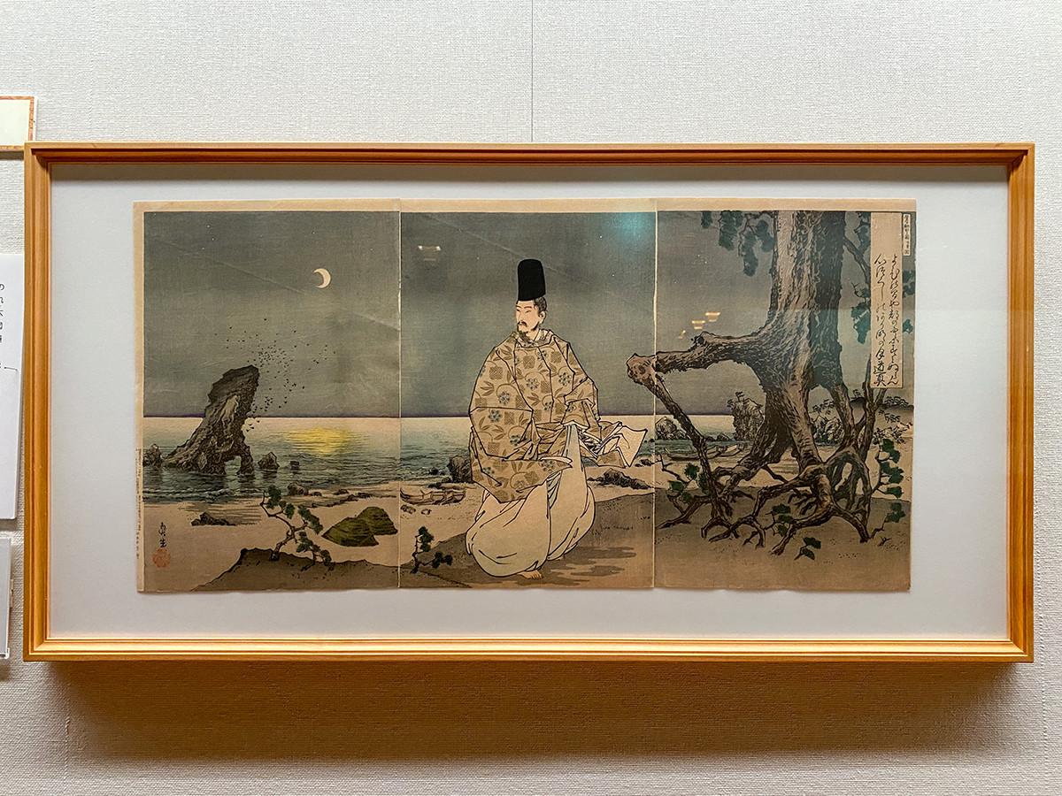 小林清親《菅公配所之図》明治35年(1902)2月