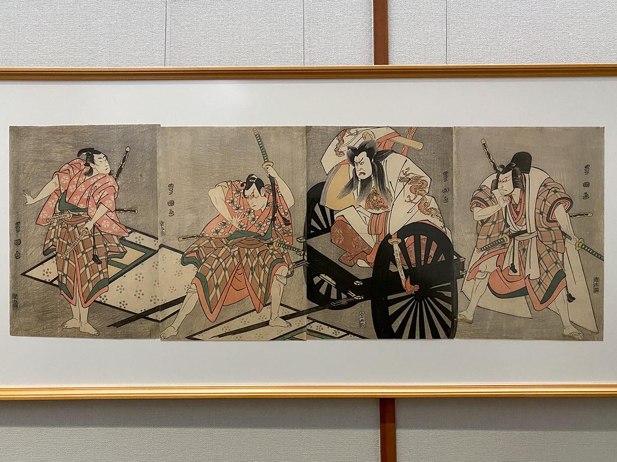 歌川豊国《「菅原伝授手習鑑」車引》寛政8年(1796)7月