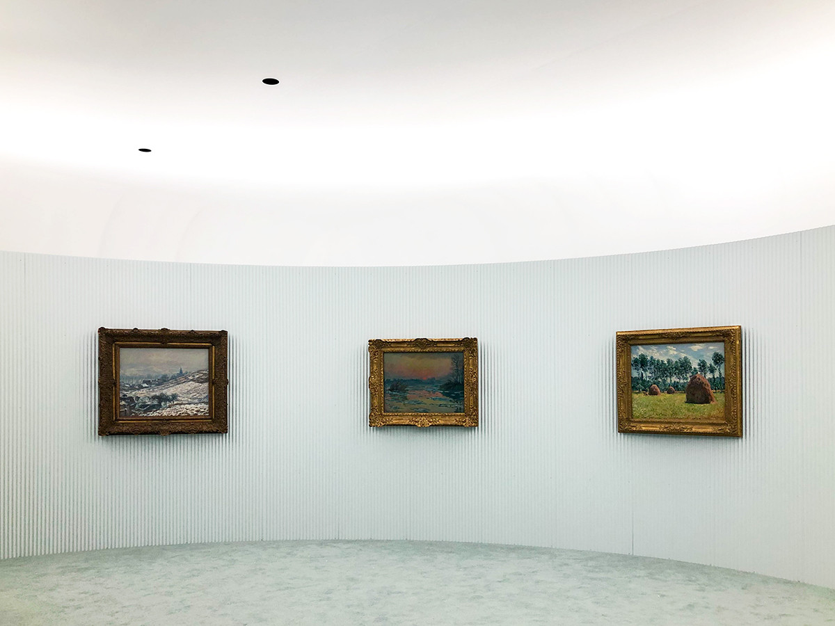 ポーラ美術館「モネ-光のなかに」展会場