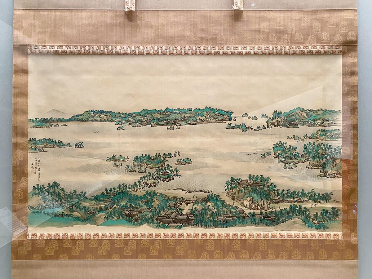 第6章「日本の文人画〈南画〉」 谷文晁《松島図》一幅 江戸時代 文政9年(1826)