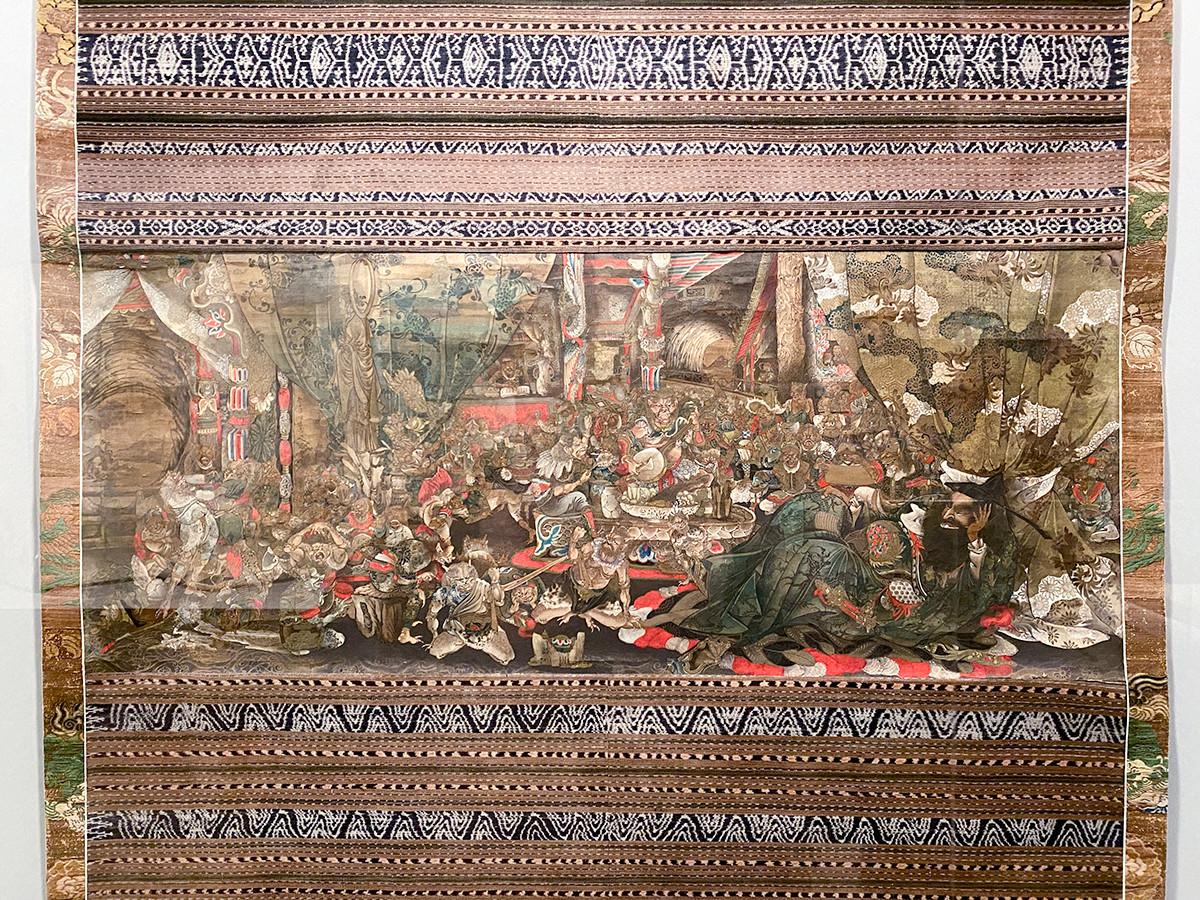 第8章「幕末から近代へ」 青木年雄《鍾馗鬼共之図》一幅 明治時代 19世紀