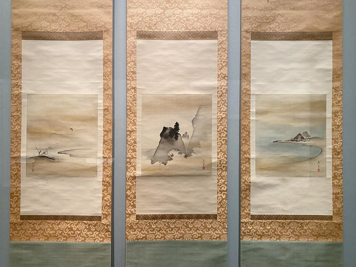 第4章「琳派」 鈴木其一《三夕図》三幅対 江戸時代 19世紀