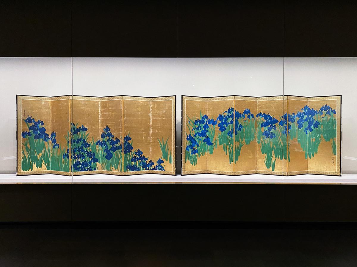 国宝 尾形光琳《燕子花図屏風》江戸時代 18世紀 根津美術館蔵