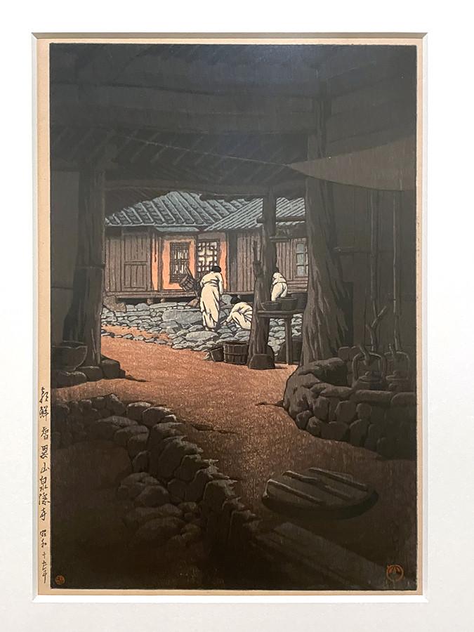 川瀬巴水《続朝鮮風景 朝鮮智異山泉隠寺》昭和15(1940)年