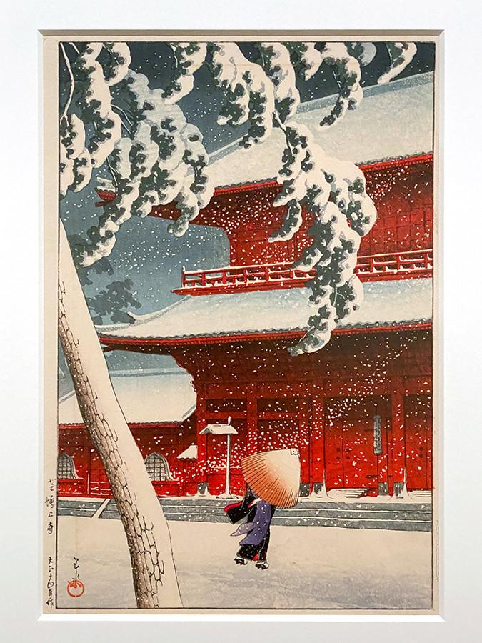 川瀬巴水《東京二十景 芝増上寺》大正14(1925)年