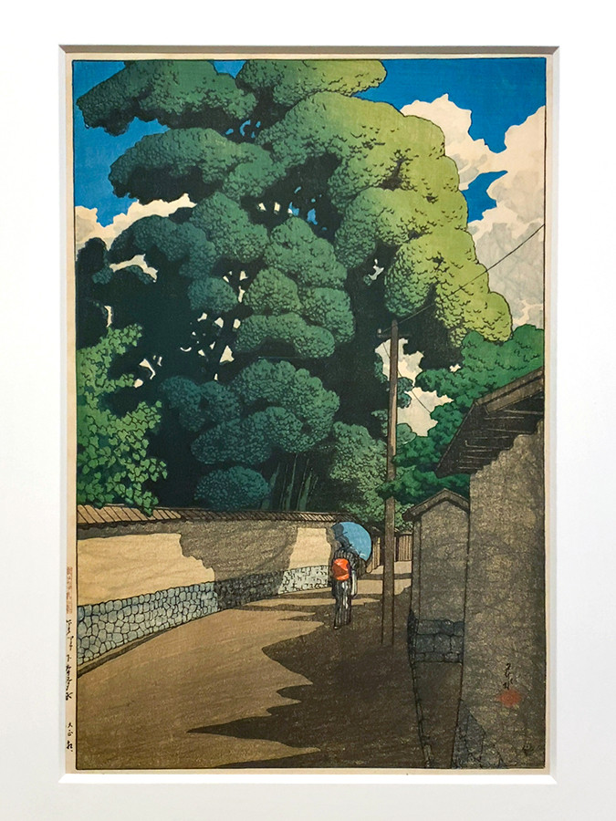 川瀬巴水《旅みやげ第二集 金沢下本多町》大正10(1921)年9月2日
