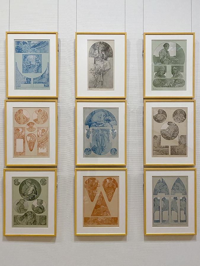アルフォンス・ミュシャ《装飾人物集》1905 OGATAコレクション蔵