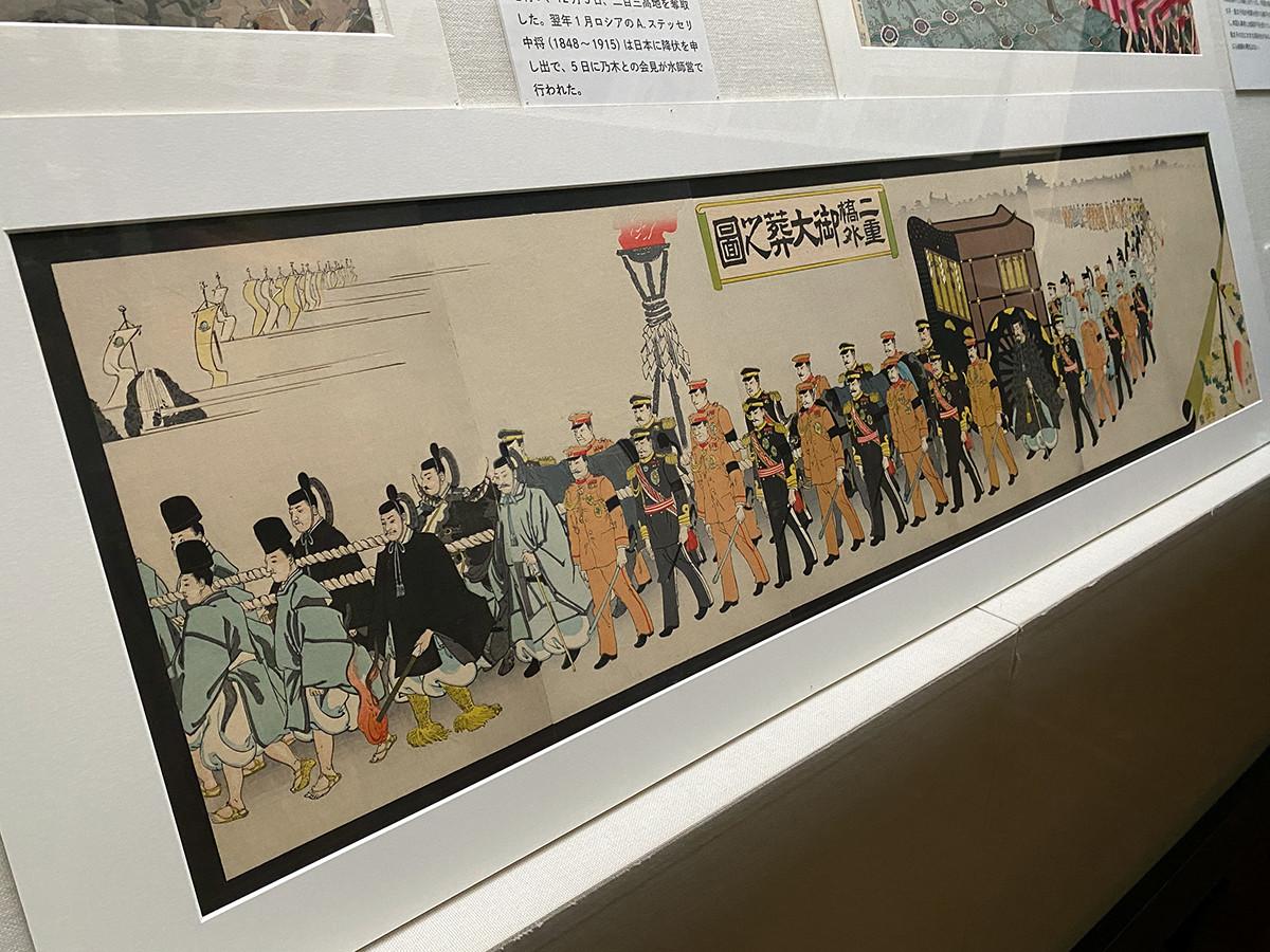 半哺《二重橋外御大葬之図》大正元(1912)年