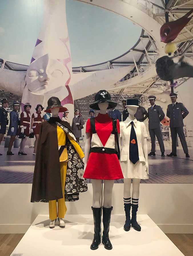 国立新美術館「ファッション イン ジャパン 1945-2020 ― 流行と社会」会場 3章 1970年代