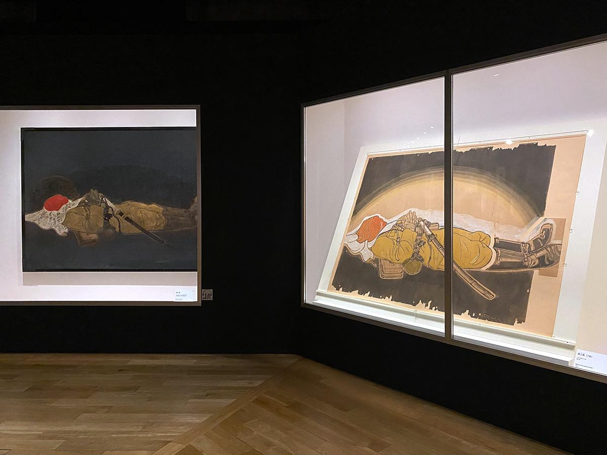 東京ステーションギャラリー「小早川秋聲 旅する画家の鎮魂歌」会場