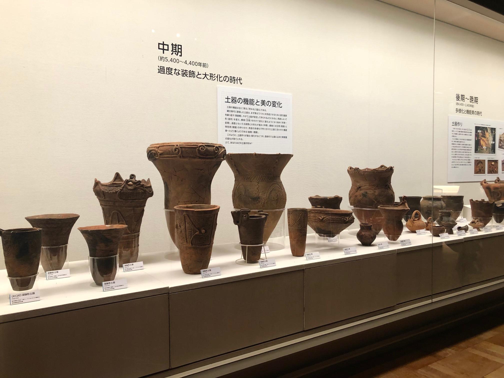 東京都江戸東京博物館「縄文2021」会場