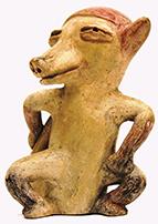 《ペッカリー(ヘソイノシシ)象形土偶》(BIZEN中南米美術館)