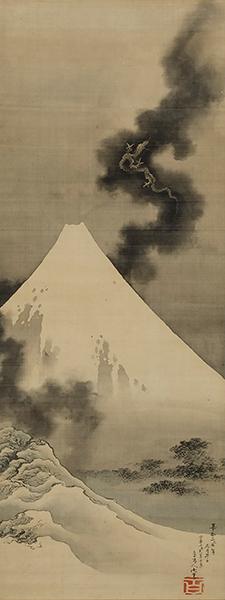 「富士越龍」北斎館蔵(前期)