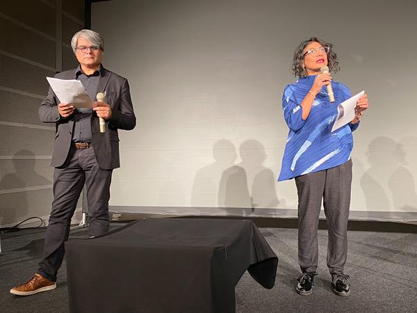 ラクス・メディア・コレクティヴ 左から、モニカ・ナルラ、シュッダブラタ・セーングプタ