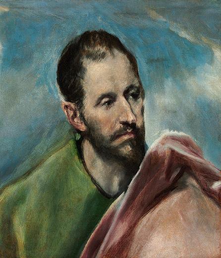 エル・グレコ《聖小ヤコブ(男性の頭部の習作)》1600年頃、油彩/カンヴァス、ブダペスト国立西洋美術館 ©Museum of Fine Arts, Budapest-Hungarian National Gallery, 2019