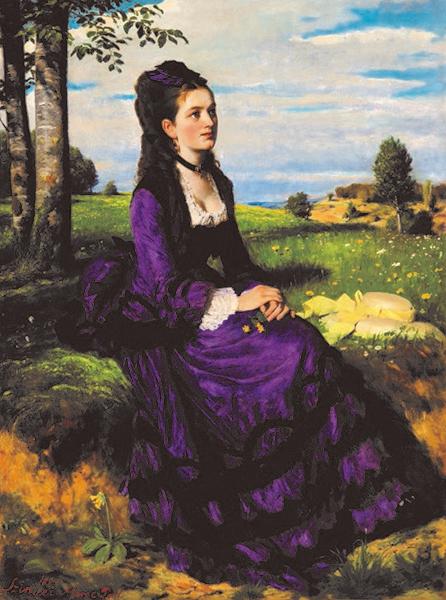 シニェイ・メルシェ・パール《紫のドレスの婦人》1874年、油彩/カンヴァス、ブダペスト、ハンガリー・ナショナル・ギャラリー ©Museum of Fine Arts, Budapest-Hungarian National Gallery, 2019