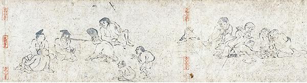国宝 鳥獣戯画 丙巻(部分) 平安時代 12世紀 京都・高山寺 通期