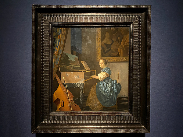 展覧会場から ヨハネス・フェルメール《ヴァージナルの前に座る若い女性》1670-72年頃
