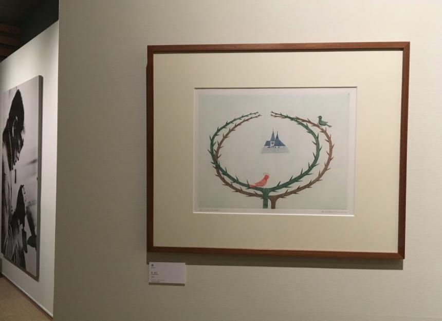 「春」南桂子 1971 年 28.4×36.5cm  銅版画、紙