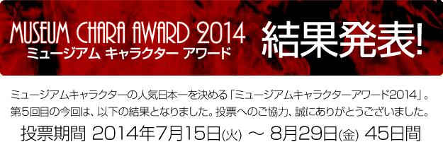 ミュージアム キャラクター アワード 2014